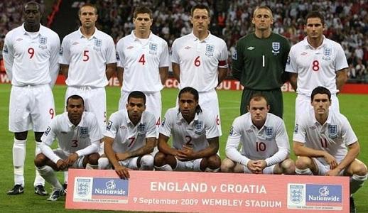 England Match No. 878 - Croatia - 9 September 2009 - Match ...