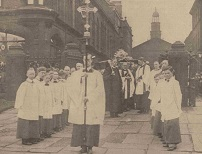 The funeral of Sir William Clegg at Sheffield Cathedral
