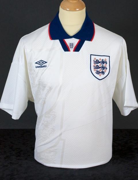 257ef62c6 England s Home Uniform 1993 to 1994