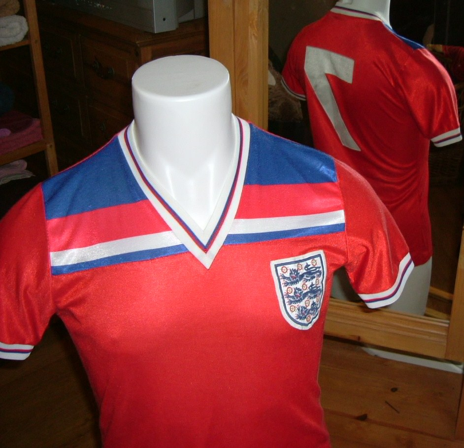 England s Away Uniform 1982 to 1983 a79c8c6eb